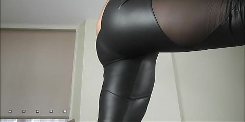 British leggings arse worship