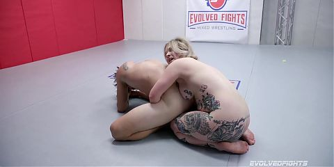 Mixed Wrestling, Ass Eating And Strapon Fucking with Kaiia Eve