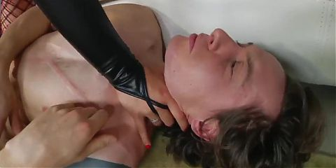 Domina Pegging Slut Boy