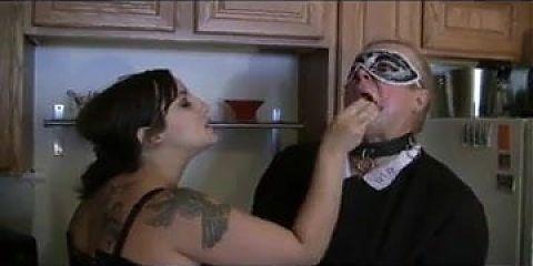 Buxom BBW Mistress and sissy maids