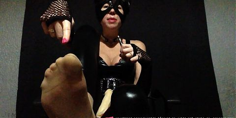 JOI - French  Foot Fetish Domina and Micro Penis Slave