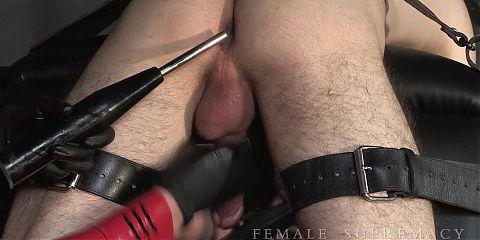 Baroness Essex Torturing Her slave Strapon CBT
