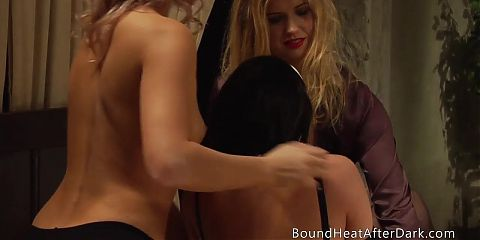 Lesbian Threesome With Two Slaves And Horny Dominant Madame